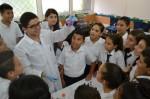 Escolares de Ciudad Cortés aprenden sobre medio ambiente y contaminación con estudio de macroinvertebrados